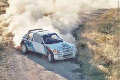 Peugeot 205 T16 kicking up dust.