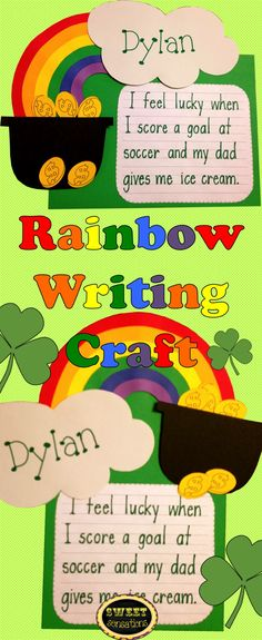 rainbow writing on pinterest