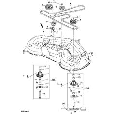 T13066421 Wiring diagram john deere stx 38 as well T25533818 Adjust tension belt john deere ride d140 in addition 2923 John Deere L G Belt Routing Guide furthermore T2860781 Need diagram put drive belt back besides John Deere G110 Carburetor Diagram. on john deere g110 mower deck