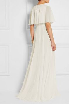 ivory cape dress - Google Search