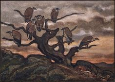 Antoine-Louis Barye (French, 1796–1875). Vultures on a Tree, 1810-75. The Metropolitan Museum of Art, New York. H. O. Havemeyer Collection, Bequest of Mrs. H. O. Havemeyer, 1929 (29.100.596). #halloween