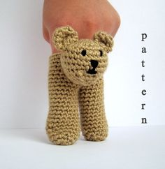 INSTANT DOWNLOAD Pdf Pattern  Two Finger Puppets 3 in by PureCraft, £3.50