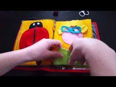 Livre sensoriel activités enfant en feutrine - YouTube