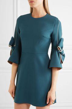 Roksanda   Harlin bow-embellished stretch-crepe mini dress   NET-A-PORTER.COM