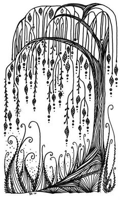 New Drawing Doodles Zentangle Patterns Inspiration 41 Ideas Tangle Doodle, Doodles Zentangles, Zen Doodle, Zentangle Patterns, Doodle Art, Doodle Trees, Tangle Art, Mandala Art, Drawn Art