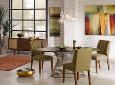A handsomely crafted Mercer Oval Table from INK+IVY adds mid-century modern to any work environment. Featuring a modern twist of golden bronze tops and antique Brunch, Meeting Table, Table Frame, Oval Table, Dining Room Inspiration, Dining Chair Set, Dining Tables, Mid Century House, Mid-century Modern