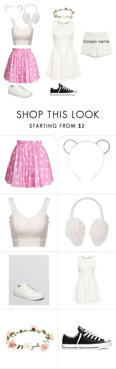 """""""Strawberry Milk outfits"""" by zahra2002 ❤ liked on Polyvore featuring Retrò, Nathaniel Cole, Kenneth Cole, Accessorize, Converse, Moschino Cheap & Chic, kpop, kawaii and strawberrymilk"""