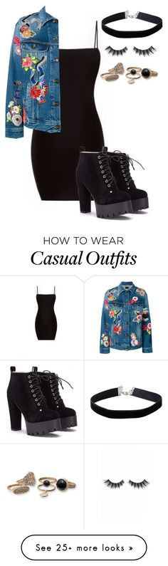 """its casual"" by mfr-mtz on Polyvore featuring Yves Saint Laurent, Miss Selfridge and Violet Voss"