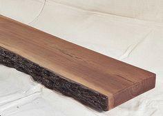 bark wood mantle | rustic primitive walnut live edge fireplace mantel mantle shelf beam