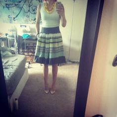 A Simple Skirt.  Check out my blog for a breakdown of this outfit plus ways to wear it!