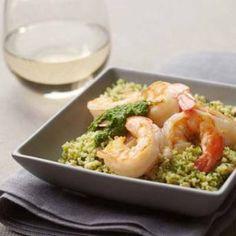 Green Couscous & Shrimp
