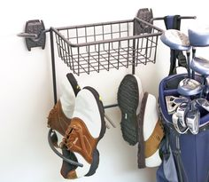 Perfect For Home Use This Activity Organizer Golf Rack And Basket By  Organized Living Offers Secure