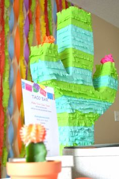 how to make a cactus pinata for a fiesta party #fiesta #cactus #pinata