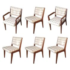 Set of 6 Mid Century Modern Chair Made of Solid Mahogany