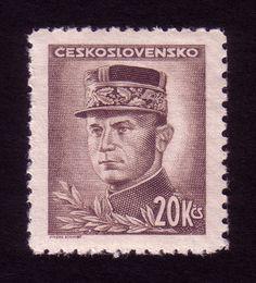 Designer: Jindra Schmidt / Year: 1946 / Theme: figures of Czechoslovak sovereignty / Printing process: engraving European Countries, Czech Republic, Printing Process, Milan, Stamps, World, Prints, Design, Seals