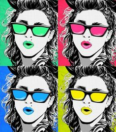 Warhol Madonna, unknown artist