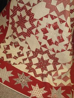 Dancing with the Stars - I love a red and white quilt.