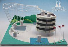 The Positive Solutions Pavilion; model / paper / architecture / pavilion / miniature / vancouver / MPPC / mini paper pavilion club