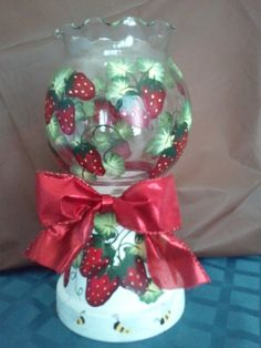 Strawberry themed candle holder - on sale in my craft store