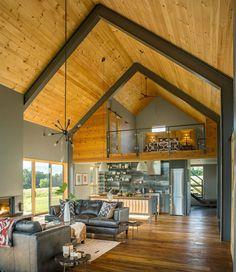 Современный деревянный коттедж для отдыха семьи в Вермонте | Пуфик - блог о дизайне интерьера