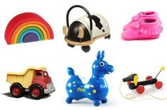 Fun, cute baby gift ideas from Mother Mag! We love all these suggestions. Your baby will love the blocks, shoes and small animal toys.