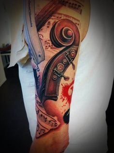 110 Charming Music Tattoo Designs nice  Check more at http://fabulousdesign.net/music-tattoos/