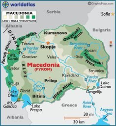 Macedonia. Bob is from Bitola, just about the most southern city.