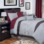 Grace Gray Embroidered 13-Piece Queen Comforter Set