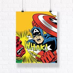 Captain America Customizable Vector Illustration. Premium