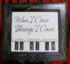 Craft Surfing: Counting Blessings
