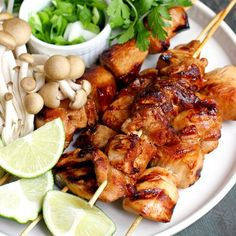 These honey Sriracha chicken kebabs are extremely easy to make and bursting with flavor!