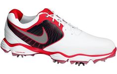 Nike Golf Shoes Lunar Control 2013 has full grain leather with Flywire midfoot saddle for stability and flexibility.