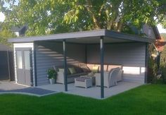 Pergola For Sale Lowes Back Garden Landscaping, Backyard Gazebo, Backyard Seating, Backyard Patio Designs, Contemporary Outdoor Fireplaces, Outdoor Fireplace Designs, Backyard Storage Sheds, Backyard Sheds, Back Garden Design