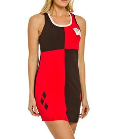 Another great find on #zulily! Red & Black Harley Quinn Nightgown - Women #zulilyfinds