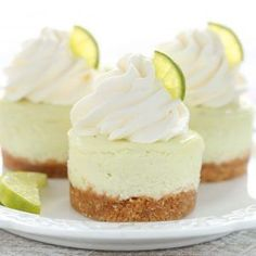 Mini Key Lime Cheesecakes