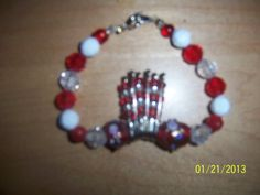 Bracelet Jewelry handcrafted Fashion red by NAESBARGINBASEMENT, $8.00