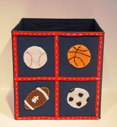 Kids Storage Bin Toy Organizer Boys Room Decor by KissyMonster, $25.00