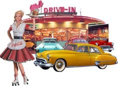 aww I wish I had been a teenager in the 50's ..... then again I'd be even older...it just looked so fun!