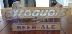 Vintage Iroquois Beer Ale Sign