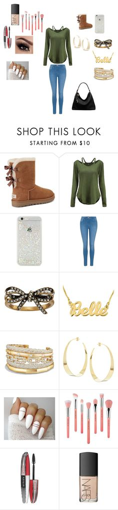 """""""HELLO"""" by eldrianmcdonnell ❤ liked on Polyvore featuring UGG, ban.do, George, Marc Jacobs, David Yurman, Lana, Bdellium Tools, L'Oréal Paris, NARS Cosmetics and Michael Kors"""
