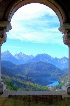 The view from Neuschwanstein Schloss
