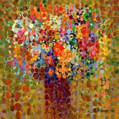 'Floral Bouquet Ochre' by Angelo Franco Painting Print on Canvas by Wayfair