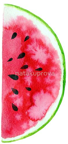 Watercolor watermelon slices