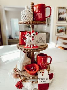 Valentine Tiered Tray Decor