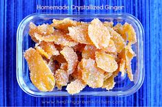 Homemade Crystallized Ginger from Healthy Green Kitchen