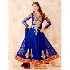 Buy this KASHEESH KAREENA BLUE designer suit at 50% discount.. GEORGETTE  SHIRT CREAP SALWAR CHIFFON DUPPATTA RESHAM AND ZARI THREAD WORK CUSTOMIZE  UPTO SIZE ... 19d3d3c27