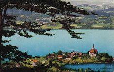 Maria Wörth - Namensgeber des Sees Klagenfurt, River, Outdoor, Bike Rides, Summer Vacations, Family Vacations, Road Trip Destinations, Postcards, Tips