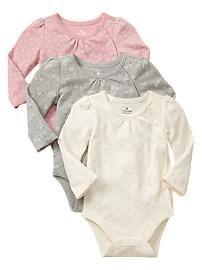 Printed bodysuit (3-pack)