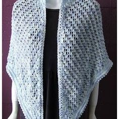 Ladies' Summertime Lace Shawl Knitting Pattern in BAMBOOZLE by Crystal Palace yarns