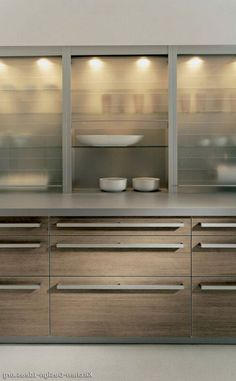 46 Most Popular Modern Kitchen Design Ideas. Why do you need modern kitchen design ideas? It can be very easy to have a home and decorate it. Glass Kitchen Cabinets, Contemporary Kitchen Cabinets, Kitchen Cabinet Remodel, Modern Kitchen Design, Interior Design Kitchen, Kitchen Decor, Kitchen Wood, Alno Kitchen, Kitchen Pulls